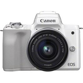 Canon EOS M50 Body With EF-M 15-45mm IS STM Lens Kit - White Thumbnail Image 10